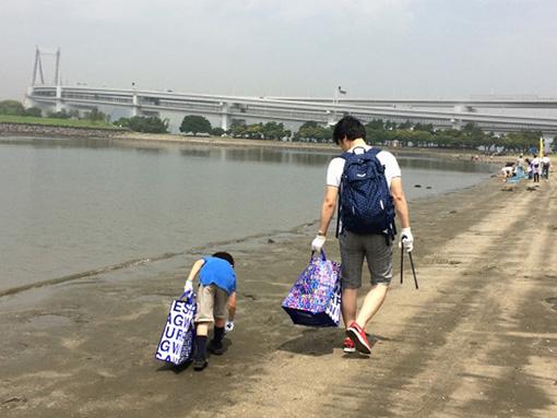 【REPORT】「東京ベイ・クリーンアップ大作戦」ルー・ガービッジをお使いいただきました