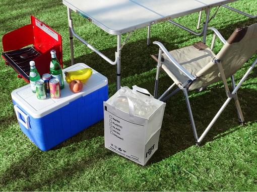 『プチプラキャンプ』で掲載されました。ゴミ箱になるトートバッグルー・ガービッジ