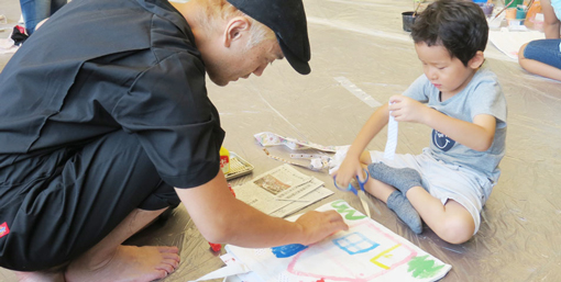 【8/19 IID kids WORKSHOP 2018】トートバッグに絵を描いて、アートトートを作ろう!