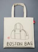 ボストンバッグ柄のトートバッグ