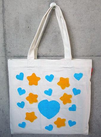 ハートと星の音符バッグ