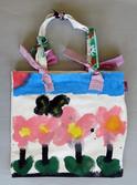 ピンクのお花のかばん