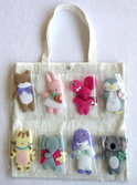 animals clear tote